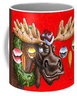 Merry Chris Moose Coffee Mug