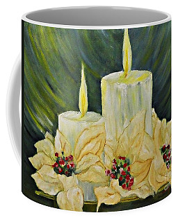 Coffee Mug featuring the painting Merry Christmas by AmaS Art