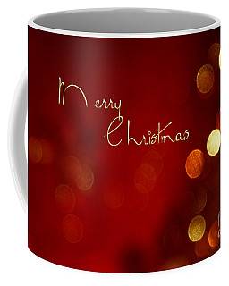 Merry Christmas Card - Bokeh Coffee Mug by Aimelle