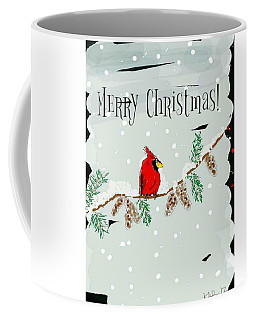 Merry Christmas Cardinal Coffee Mug