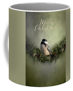 Merry Christmas Chicadee 1 Coffee Mug