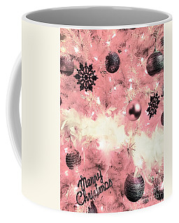 Merry Christmas In Pink Coffee Mug