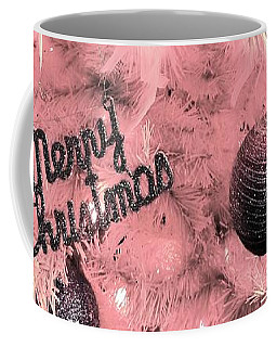 Merry Christmas In Pink Coffee Mug