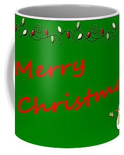 Merry Christmas Little Snow Man On Green Coffee Mug