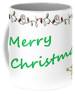 Merry Christmas Little Snow Man On White 2 Coffee Mug