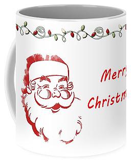 Merry Christmas Santa Claus Horizontal Coffee Mug