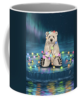 Coffee Mug featuring the painting Merry Christmas  by Veronica Minozzi