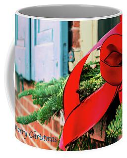 Merry Christmas Window Bow Coffee Mug