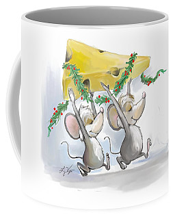 Merry Mice Mic And Mac Holiday Coffee Mug