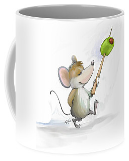 Merry Mouse Moe With Olive Coffee Mug