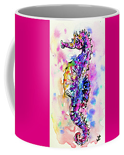 Coffee Mug featuring the painting Merry Seahorse by Zaira Dzhaubaeva