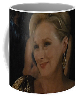 Meryl Streep Receiving The Oscar As Margaret Thatcher  Coffee Mug