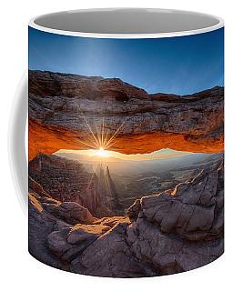 View Through The Mesa Arch At  Sunrise Coffee Mug