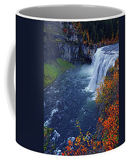 Mesa Falls In The Fall Coffee Mug