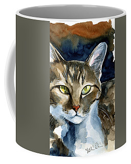 Mesmerizing Eyes - Tabby Cat Painting Coffee Mug