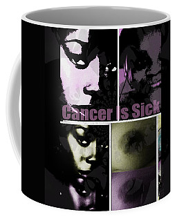 Coffee Mug featuring the mixed media Message For All by Fania Simon