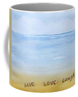 Message In The Sand Coffee Mug by Edwin Alverio