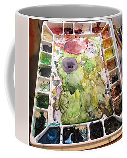 Coffee Mug featuring the photograph Messy Art by Marie Neder