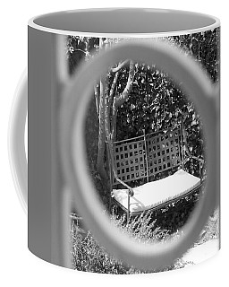 Metal Bench In Sedona Coffee Mug
