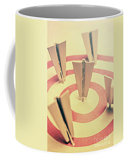Metal Paper Planes In Target, Business Aims Coffee Mug