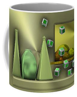 Metalic Still Life With Cubes Flying Coffee Mug
