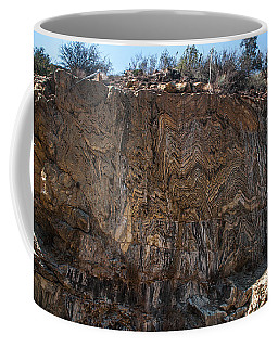 Metamorphic Geologic Wall In Kings Canyon Giant Sequoia National Monument Sequoia National Forest Coffee Mug