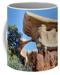 Coffee Mug featuring the photograph Metate Arch - Devils Garden by Nikolyn McDonald