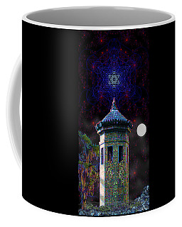 Coffee Mug featuring the digital art Metatron Nocturnal by Iowan Stone-Flowers