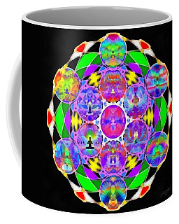 Coffee Mug featuring the digital art Metatron's Cosmic Ascension by Derek Gedney