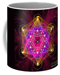 Metatron's Cube With Flower Of Life Coffee Mug