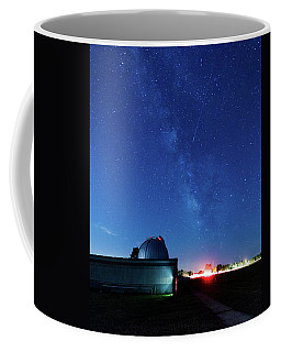 Coffee Mug featuring the photograph Meteor And Observatory by Jay Stockhaus