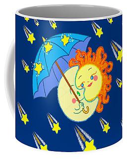 Coffee Mug featuring the digital art Meteor Shower by J L Meadows