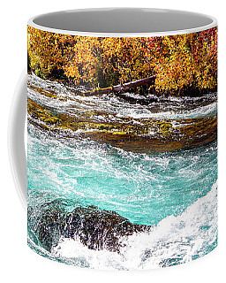 Coffee Mug featuring the photograph Metolius River by David Millenheft