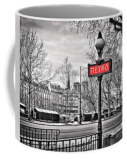 Metro Pont Marie 8x10 Coffee Mug