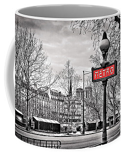 Metro Pont Marie Coffee Mug by Delphimages Photo Creations