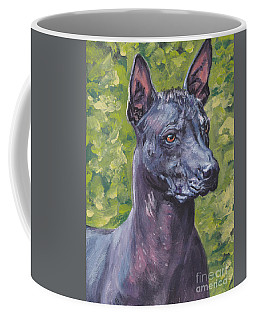 Coffee Mug featuring the painting Mexican Hairless Dog Standard Xolo by Lee Ann Shepard