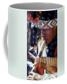 Coffee Mug featuring the photograph Mexican Street Musician by Lori Seaman