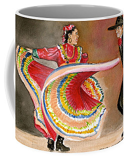 Mexico City Ballet Folklorico Coffee Mug by Frank Hunter