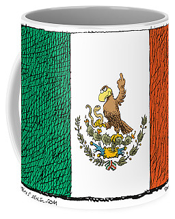 Mexico Flips Bird Coffee Mug