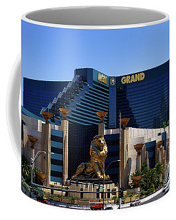 Mgm Grand Hotel Casino Coffee Mug by Mariola Bitner
