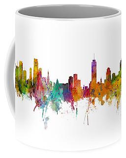 Miami And Nashville Skylines Mashup Coffee Mug