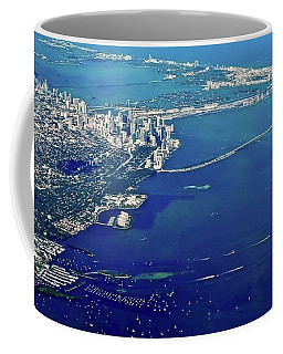 Miami Coastal Aerial Coffee Mug