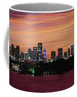 Miami Sunset Panorama Coffee Mug by Gary Dean Mercer Clark