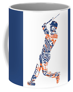 Michael Conforto New York Mets Pixel Art 1 Coffee Mug