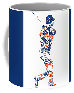 Michael Conforto New York Mets Pixel Art 2 Coffee Mug