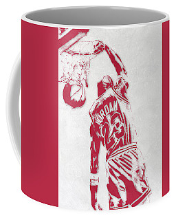 Michael Jordan Chicago Bulls Pixel Art 1 Coffee Mug