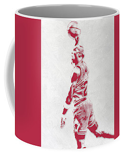 Michael Jordan Chicago Bulls Pixel Art 3 Coffee Mug