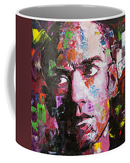 Coffee Mug featuring the painting Michael Stipe by Richard Day
