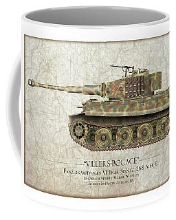 Michael Wittmann Tiger Tank - Map Background Coffee Mug
