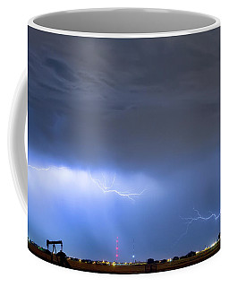 Coffee Mug featuring the photograph Michelangelo Lightning Strikes Oil by James BO Insogna